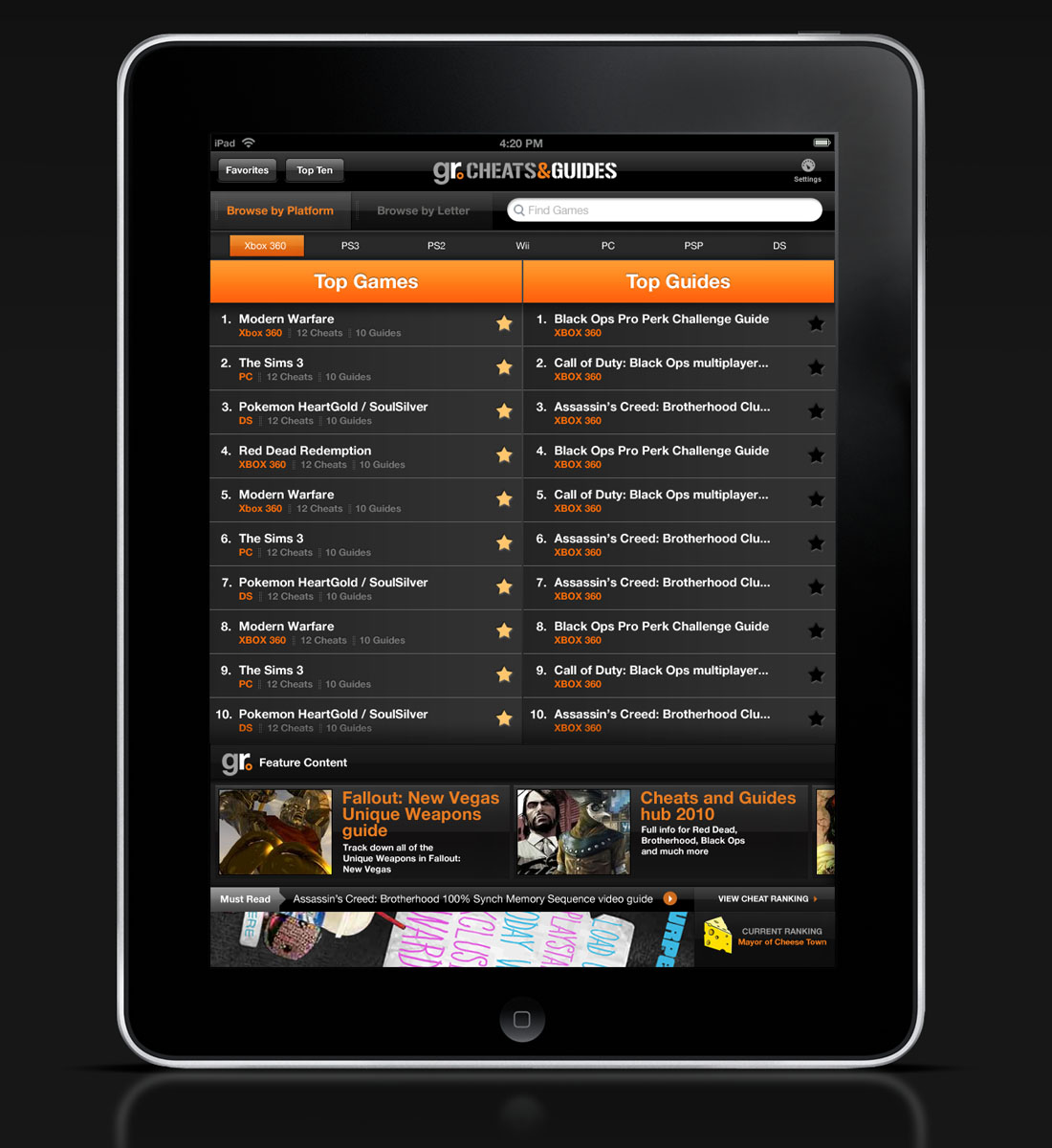 Ithira Design – GamesRadar Cheats & Guides iPad App